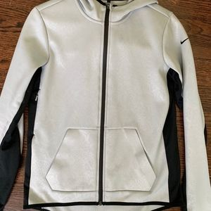 NIKE Therma-Fit Silver and Black Running Jacket